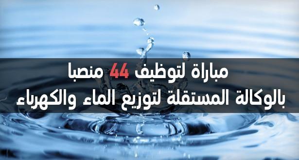 مباراة لتوظيف 44 منصبا بالوكالة المستقلة لتوزيع الماء والكهرباء